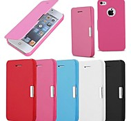 abordables -Funda Para iPhone 4/4S Apple Funda de Cuerpo Entero Dura Cuero de PU para iPhone 4s/4