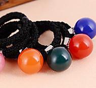 Недорогие -Корейский круглые волос акриловая Candy Ball ткани связи для женщин (случайные цвета) (1 шт)