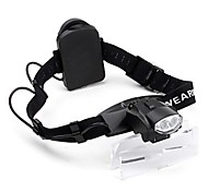 Adjustable 2-LED Illuminating Maintenance Magnifier (1.0x - 6.0x)