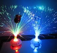 baratos -Coway Uma Rosa garrafa de fibra óptica Flor colorido LED Night Light (cor aleatória)