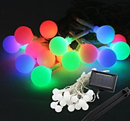 cheap -20-LED Solar Power Ball Shape Fairy String Light Lamp Bulb 9M For Decor