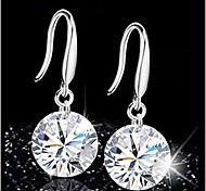 cheap -Women's Drop Earrings Sterling Silver Crystal Jewelry Wedding Party Daily Costume Jewelry