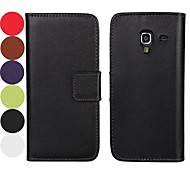 Solid Color Pattern Hard Case with Magnetic Snap and Card Slot for Samsung Galaxy Ace 2 I8160