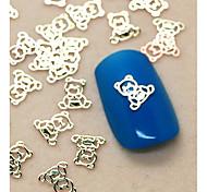 Недорогие -200шт милый ребенок форма медведь ломтик металл украшение искусства ногтя