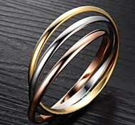 cheap -Exquisite Fashion Joker Three-ring High-grade Ladies Bracelet Beautiful Present for Love Christmas Gifts