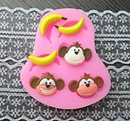 cheap -Monkey Banana Bake Fondant Cake Mold,L7.4cm*W6.2m*H1.2cm