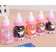 Lash Haargummis in Flaschen Milch-Süßigkeit-Farben Kleine Gummibänder (1 Flasche)