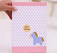 1 Pcs grande taille et Portable Cartoon Paper Folding package Princesse Miroir