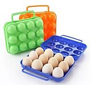 12 опоясывает Коробочки Пластиковые яйца (Random Color)