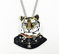 baratos -padrão de tigre colar de madeira