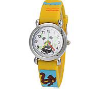 preiswerte -Damen Quartz Armbanduhr Armbanduhren für den Alltag Silikon Band Freizeit Zeichentrick Modisch Gelb