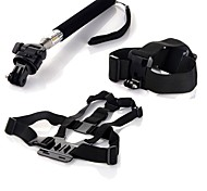 Chest Harness Front Mounting Straps Hand Grips/Finger Grooves Monopod Tripod 147-Action Camera,Gopro 5 Gopro 3 Gopro 2 Gopro 3+ Gopro 1