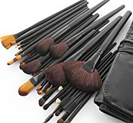 32PCS Professional Goat Hair Black Handle Makeup Brush With Free Case