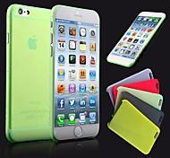Hülle Für iPhone 6 iPhone 6 Plus Ultra dünn Mattiert Durchscheinend Rückseitenabdeckung Volltonfarbe Hart PC für iPhone 6s Plus iPhone 6