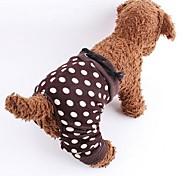 Cane Pantaloncini Abbigliamento per cani Cotone Primavera/Autunno A pois Marrone Costume Per animali domestici