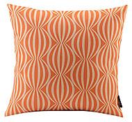 Orange Watermelon Linked Cotton/Linen Decorative Pillow Cover