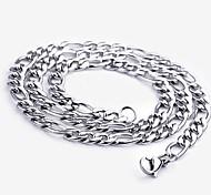 Herrn Ketten Halskette Edelstahl Simple Style Modisch Silber Schmuck 1 Stück