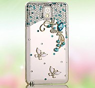 cheap -Case For Samsung Galaxy Samsung Galaxy Case Rhinestone Pattern Back Cover 3D Cartoon PC for S7 edge S7 S6 edge plus S6 edge S6 S5 S4 S3