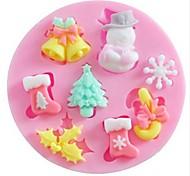 baratos -Molde Torta Biscoito Bolo Silicone Amiga-do-Ambiente Faça Você Mesmo Natal