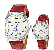 Couple's Casual Style PU Band Quartz Wrist Watch (Assorted Colors) Cool Watches Unique Watches Fashion Watch Strap Watch