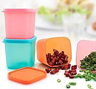 Недорогие -квадратная форма пластиковых мини 8 * 8 (380ml) ящик для хранения (разных цветов)
