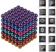 cheap -Toys Magic Toy Buckyball 216Pcs 5mm Executive Toys Puzzle Cube DIY Balls Magnetic Balls Magnet Toys Silver