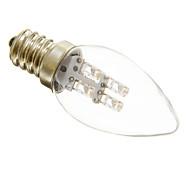 Недорогие -1 Вт. 15-20 lm E12 LED лампы в форме свечи C35 3 светодиоды Декоративная Тёплый белый Холодный белый AC 220-240V