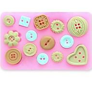 Недорогие -Кнопка помадной торт шоколад смолы глины конфеты силиконовые формы, l10m * w7.5cm * h1.3cm см-471