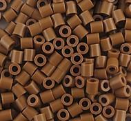 Недорогие -около 500 шт / мешок 5мм кофе предохранителей бусины Hama бисер DIY головоломки Ева материал Сафти для детей ремесла