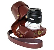 Pajiatu® PU Leather Oil Skin Camera Protective Case for Samsung NX300 18-55MM Lens or Prime Lens