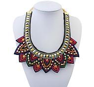 этнические Показной мини бисером женские sweatershirt нагрудник заявление ожерелье