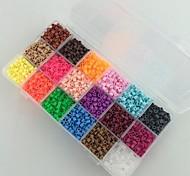 preiswerte -ca. 5400pcs 18 Mischfarbe 5mm Bügelperlen gesetzt Hama Perlen DIY-Puzzle EVA-Material safty für Kinder (set b, 18 * 300pcs)