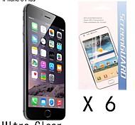 [6-pack] de haute qualité anti-empreintes digitales protection d'écran pour 6s iphone plus / 6 plus