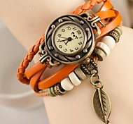 cheap -Women's Wrist Watch Casual Watch Leather Band Charm / Fashion Multi-Colored / One Year / SODA AG4