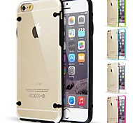 DF Glow In The Dark TPU Bumper with Clear Back Case for iPhone 6 (Assorted Color)