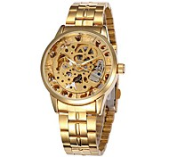 SHENHUA® Men's Fashion Skeleton Dial Steel Band Automatic Self Wind Wrist Watch (Assorted Colors) Cool Watch Unique Watch