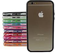 Недорогие -защитный чехол ТПУ бампер рамка для iPhone 6 Plus (разных цветов)