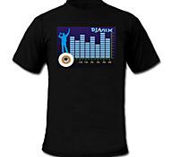 Звук и музыка активированный спектр вю метр-эль-визуализатор футболку (2 * AAA)
