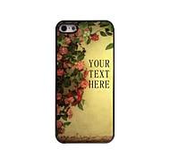 flor presente caso design de metal personalizado para iPhone 5 / 5s