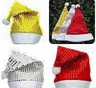 Недорогие -мигать Дед Мороз шапку