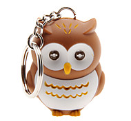 cheap -LED Lighting Key Chain Toys Key Chain LED Lighting Sound Owl ABS Cartoon Illuminated Luminous Fluorescent Pieces Christmas Birthday