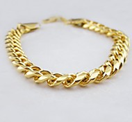 cheap -Men's Chain Bracelet - Unique Design Fashion Others Golden Bracelet For Christmas Gifts Wedding Party Daily Casual Sports