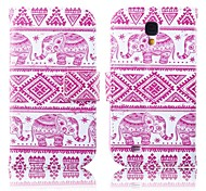 Pink Elephants Pattern PU Leather Full Body Case with Stand for Samsung S4 I9500