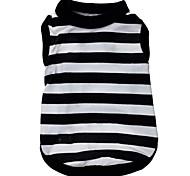 preiswerte -Katze Hund T-shirt Hundekleidung Streifen Herz Schwarz/weiss Terylen Kostüm Für Haustiere