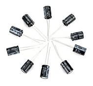 abordables -bricolaje 16v / 470UF condensador electrolítico de aluminio - negro (10 piezas)