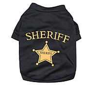 cheap -Cat Dog Shirt / T-Shirt Dog Clothes Letter & Number Stars Black Costume For Pets