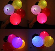 Coway Stars Light Up Balloon Filled With Printed Star LED Printing Balloon(Random Color)