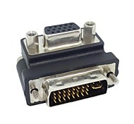 Down Right Angled 90 Degree VGA SVGA Female To DVI 24+5 Male DVI to RGB Adapter Free Shipping