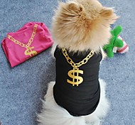 cheap -Cat Dog Shirt / T-Shirt Dog Clothes Black Green Blue Pink Terylene Costume For Pets Cosplay Wedding