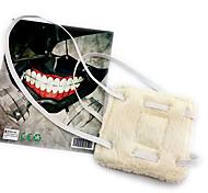baratos -Máscara Inspirado por Tokyo Ghoul Fantasias Anime Acessórios de Cosplay Máscara Branco Malha polar Masculino